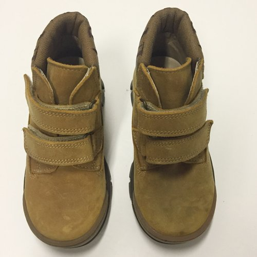 Armani Velcro Leather Boots 9.5 Kids