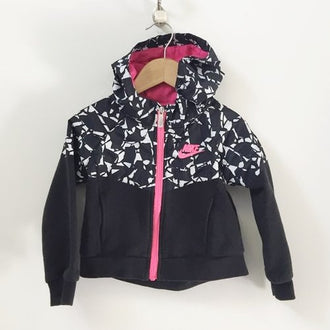 Nike Full Zip Hooded Windbreaker Sweatshirt 4T