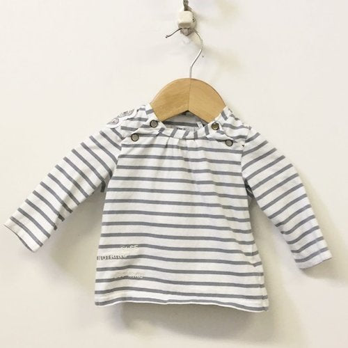 Ikks 2-Piece Set Long Sleeve Striped Top And Leggings 6M