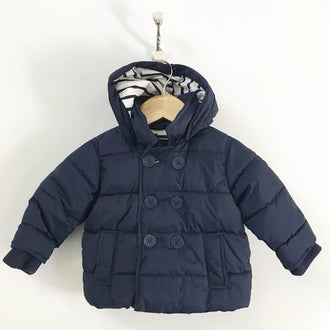 Gap Quilted Puffer Jacket With Hood 6M - 12M