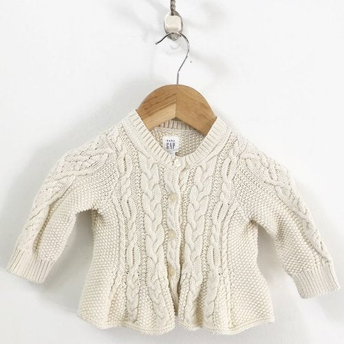 Gap Cable Knit Flare Cardigan 3M - 6M