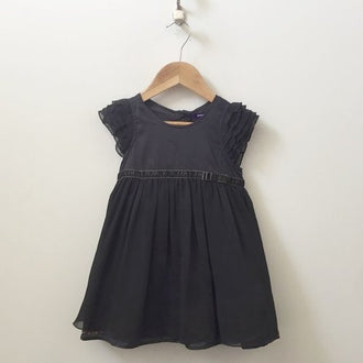 Mexx Cap Sleeve Dress With Ruffles And Bow 3T