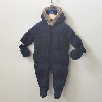 Next Puffer Snowsuit with Faux Fur Hood Trim 3M