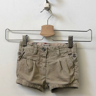 Burberry Pleated Corduroy Shorts 12M