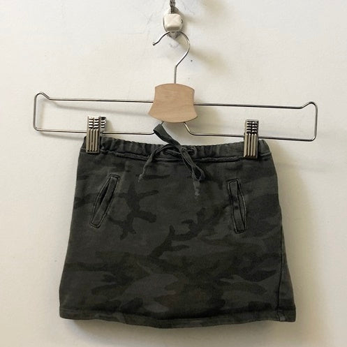 Babe & Tess Distressed Camo Cotton Skirt 18M