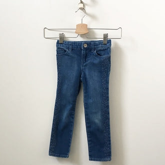 Gap 5 Pocket Jeans with Floral Embroidery 4T