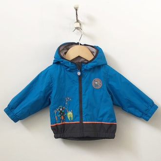 Calikids Hooded Fleece Lined Nylon Windbreaker Jacket 12M