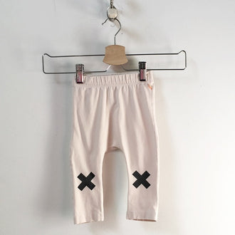 "Tiny Cottons Drop Crotch Leggings with ""X"" on Knees 6M - 12M"