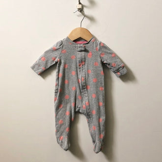 Gap Polka Dot Footed Zip Up Onesie 0 - 3M
