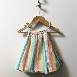 Gap Spaghetti Strap Striped Dress 3M - 6M