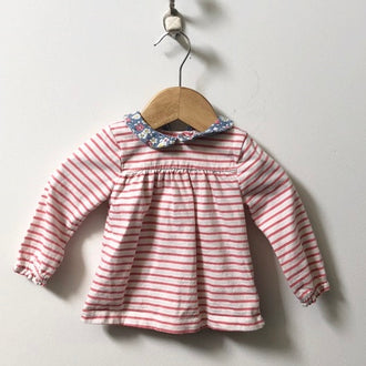 Baby Boden 2-Piece Set Striped and Floral Shirt & Leggings 3M - 6M
