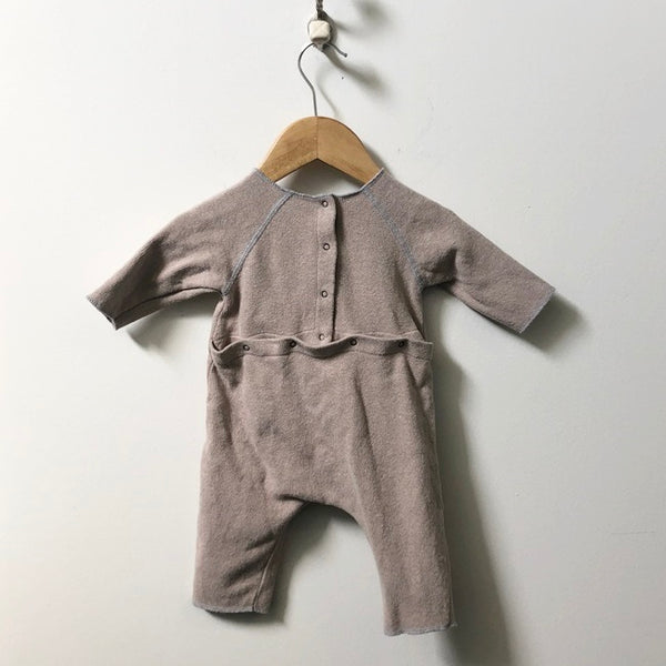 De Cavana Snap Back Onesie with Pockets 6M