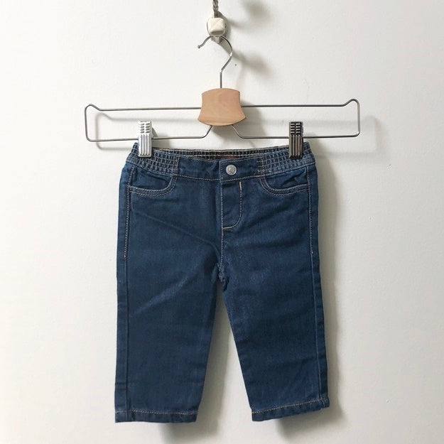 7 For All Mankind Elastic Waist Wide Leg Jeans 3M - 6M