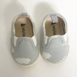 Gap Cloud Print Slip on Soft Sole Sneakers 0 - 3M