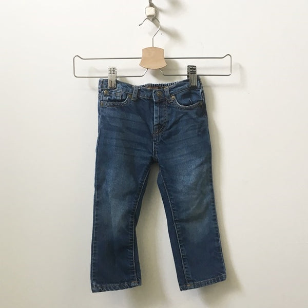 7 For All Mankind Straight Leg Elastic Waist Jeans 24M