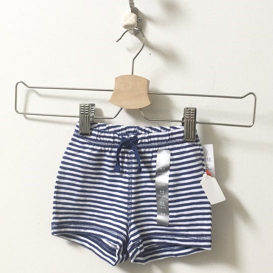 *NEW* Gap Striped Cotton Shorts 0 - 3M