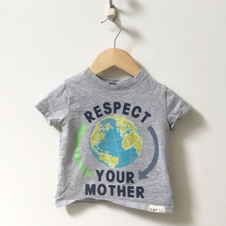 "Gap ""Respect Your Mother"" Earth Tee 12M - 18M"