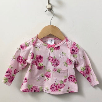 *NEW* Laura Ashley 3-Piece Set Floral Tunic with Leggings & Hat 3M - 6M