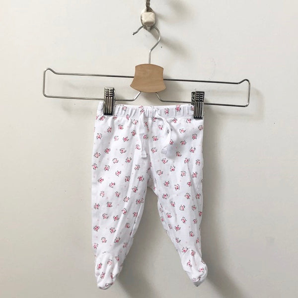 Gap 2-Piece Set Floral Print Kimono Top with Footed Leggings 0 - 3M