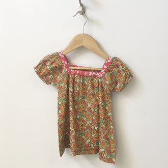 Peek Cap Sleeve Floral Peasant Top 6M - 12M