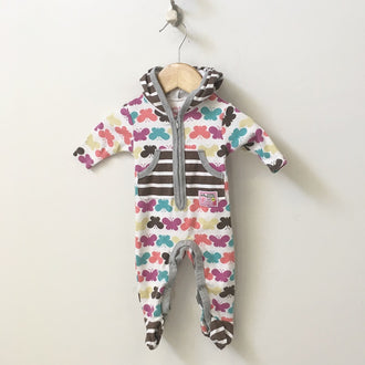 Naartjie Hooded Butterfly and Striped Footed Onesie NB