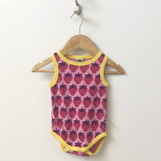 Smafolk Strawberry Tank Onesie 6M - 12M