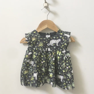 *NEW* Gap Wildlife Print Flutter Sleeve Dress 18M - 24M