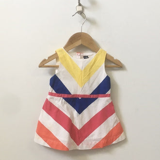 Gap Sleeveless Chevron Striped Dress 18M - 24M