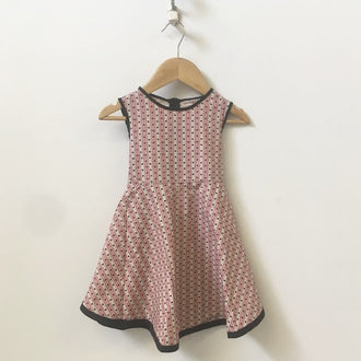 Redfish Kids Sleeveless Dot Pattern Dress with Tie-Back 1Y