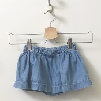 Gap Chambray Skirt with Built-In Bloomers 12M - 18M