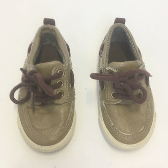 Zara Lace-Up Leather Docker Shoes 5T
