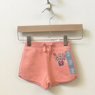*NEW* Gap Factory Tie-Waist Sweatshorts with Logo Butterfly Appique 12M - 18M