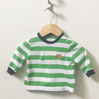 Ralph Lauren 2-Piece Set Long Sleeve Striped Tee and Sweat Pants 0 - 3M