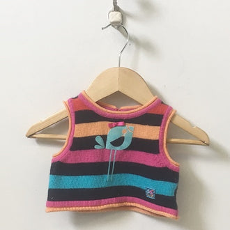 Deux Par Deux Striped Pullover Sweater Vest 12M