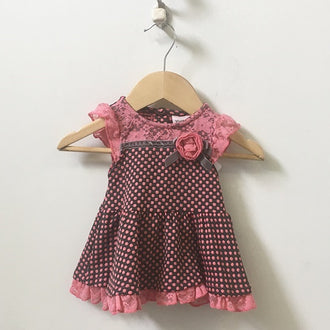 Little Lass 2-Piece Set Lace & Ruffle Dress and Pants 6M - 9M