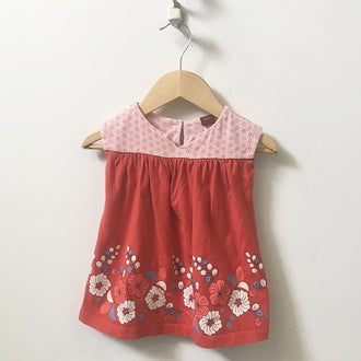 Tea 2-Piece Set Dress with Floral Leggings 6M - 12M