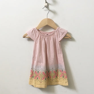 Tea Cap Sleeve Floral Print Dress 6M - 12M