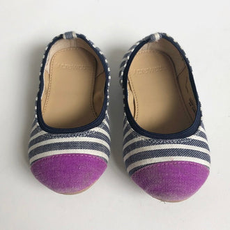 Crewcuts Striped Ballet Flats 8T