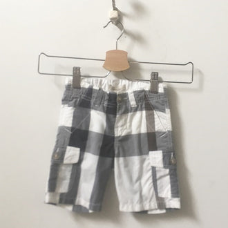 Burberry Gingham Pattern Cargo Shorts 2T