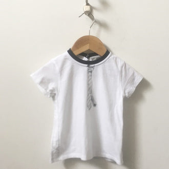 Armani Baby Tee with Printed Tie 18M