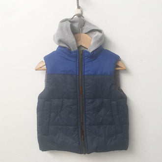 Tucker + Tate Fleece Lined Puffer Vest with Sweatshirt Hood 2T
