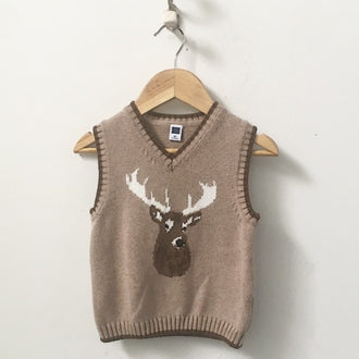 Janie and Jack Stag Head Sweater Vest 2T