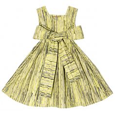 "Redfish Kids Dolce Dress ""Birch"" With Pleated Sash 8Y"
