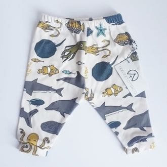 Sea Leaf Leggings NB (0 - 6M)