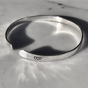 Sterling Silver Classic Hammered BB
