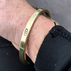 The Crescent Cuff Brass