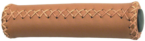 Dimension Hand-Stitched Leather Grips: Brown