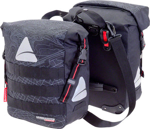 Axiom Monsoon Hydracore 32+ Panniers: Gray