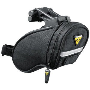 Topeak Aero Wedge Seat Bag: Micro, Black, Strapless
