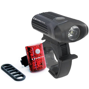 Ultracycle 250/15 Lumens USB Rechargeable Light Set